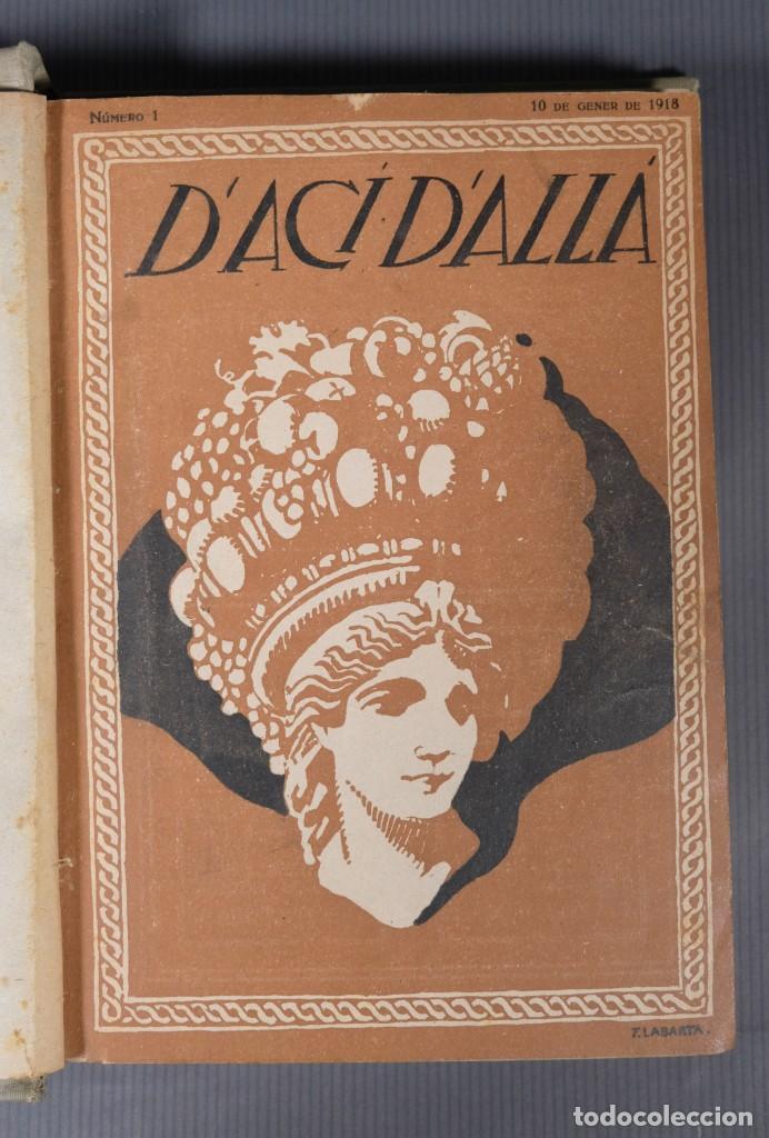 Coleccionismo de Revistas y Periódicos: D'Aci D'Alla Revista Gráfica catalana 1918-primer volumen - Foto 7 - 245640340