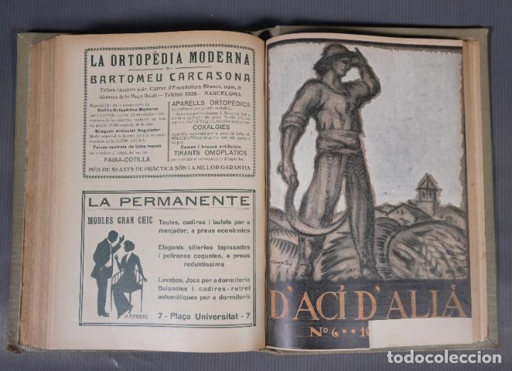 Coleccionismo de Revistas y Periódicos: D'Aci D'Alla Revista Gráfica catalana 1918-primer volumen - Foto 11 - 245640340