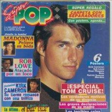 Coleccionismo de Revistas y Periódicos: SUPER POP - 1990 - TOM CRUISE, ROB LOWE, ANA TORROJA, MILLI VANILLI, KIRK CAMERON, MECANO, MADONNA. Lote 245640385