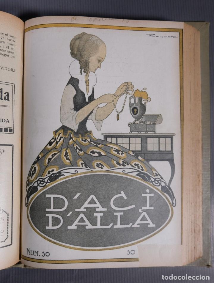 Coleccionismo de Revistas y Periódicos: D'Aci D'Alla Revista Gráfica catalana 1918-segundo volumen - Foto 10 - 245641590