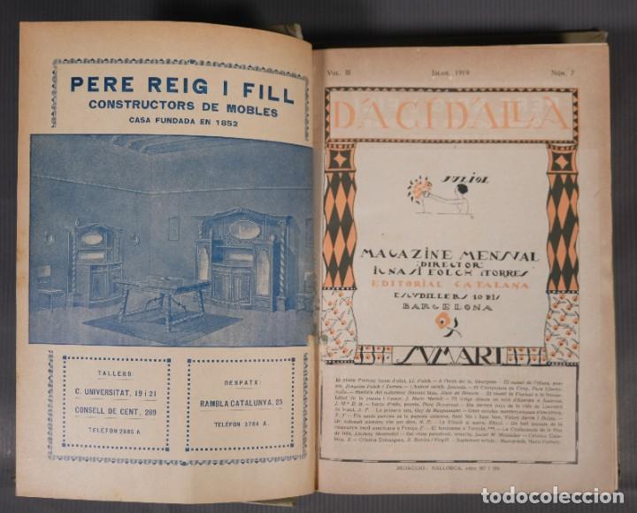Coleccionismo de Revistas y Periódicos: D'Aci D'Alla Revista Gráfica catalana 1919-cuarto volumen - Foto 8 - 245641615