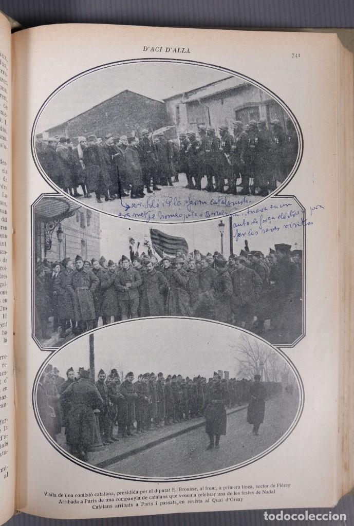 Coleccionismo de Revistas y Periódicos: D'Aci D'Alla Revista Gráfica catalana 1919-cuarto volumen - Foto 12 - 245641615