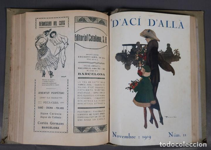Coleccionismo de Revistas y Periódicos: D'Aci D'Alla Revista Gráfica catalana 1919-cuarto volumen - Foto 14 - 245641615