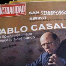 Coleccionismo de Revistas y Periódicos: PAU CASALS PALOMO LINARES GIMENO SIRIKIT AUDREY HEPBURN 1966. Lote 245721235
