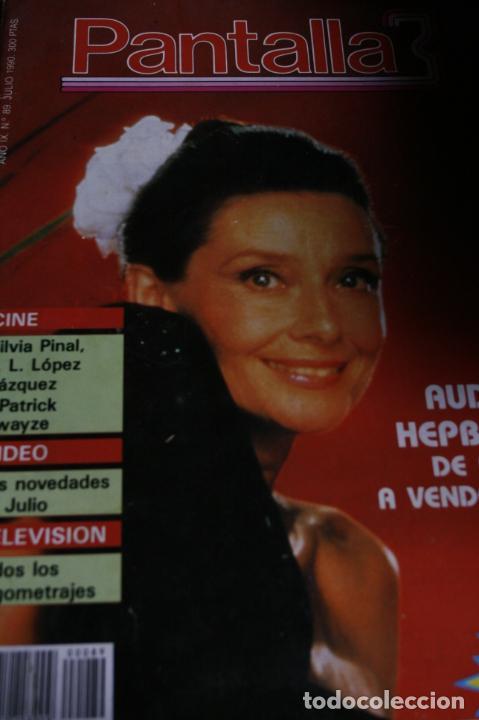 PANTALLA 3 AUDREY HEPBURN SILVIA PINAL CARATULAS PELICULAS 1990 (Coleccionismo - Revistas y Periódicos Modernos (a partir de 1.940) - Otros)