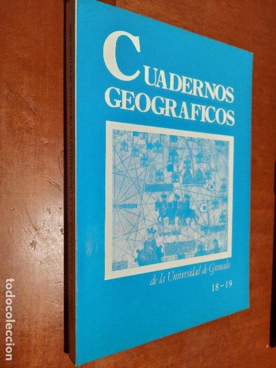 CUADERNOS GEOGRÁFICOS 18-19. REVISTA DE LA UNIVERSIDAD DE GRANADA. RÚSTICA. BUEN ESTADO. (Coleccionismo - Revistas y Periódicos Modernos (a partir de 1.940) - Otros)
