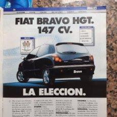 Coleccionismo de Revistas y Periódicos: ANUNCIO FIAT BRAVO. Lote 245742420