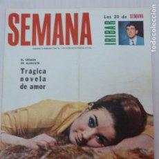 Collezionismo di Riviste e Giornali: REVISTA SEMANA DE TRAGICA NOVELA DE AMOR SONIA BRUNO ANUNCIO CHIQUILIN IRÍBAR MARISOL Nº 1356. Lote 245782815