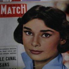 Coleccionismo de Revistas y Periódicos: REVISTA FRANCESA PARIS MATCH AUDREY HEPBURN BOURVIL 1956. Lote 245919590