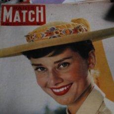 Coleccionismo de Revistas y Periódicos: REVISTA FRANCESA PARIS MATCH AUDREY HEPBURN 1955. Lote 245919940