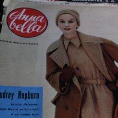 Coleccionismo de Revistas y Periódicos: REVISTA ITALIANA ANNA BELLA MODA AUDREY HEPBURN 12956. Lote 245922425