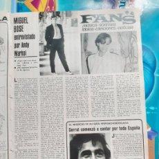 Coleccionismo de Revistas y Periódicos: MIGUEL BOSE POR ANDY WARHOL SERRAT. Lote 245931920