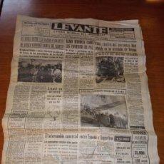 Coleccionismo de Revistas y Periódicos: DIARIO LEVANTE DIARIO REGIONAL DEL MOVIMIENTO DEL 23 DE AGOSTO DE 1966 DE CATORCE PAGINAS. Lote 245995985