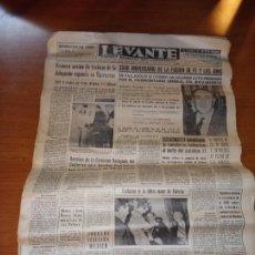 Coleccionismo de Revistas y Periódicos: DIARIO LEVANTE DIARIO REGIONAL DEL MOVIMIENTO DEL 5 DE MARZO DE 1966 DE VEINTICUATRO PAGINAS. Lote 245996745