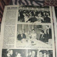 Coleccionismo de Revistas y Periódicos: ARTÍCULO SOBRE AUDREY HEPBURN EN 2 FOLIOS DE REVISTA DE 1965. MEDIDA 31 X 23. Lote 246043535