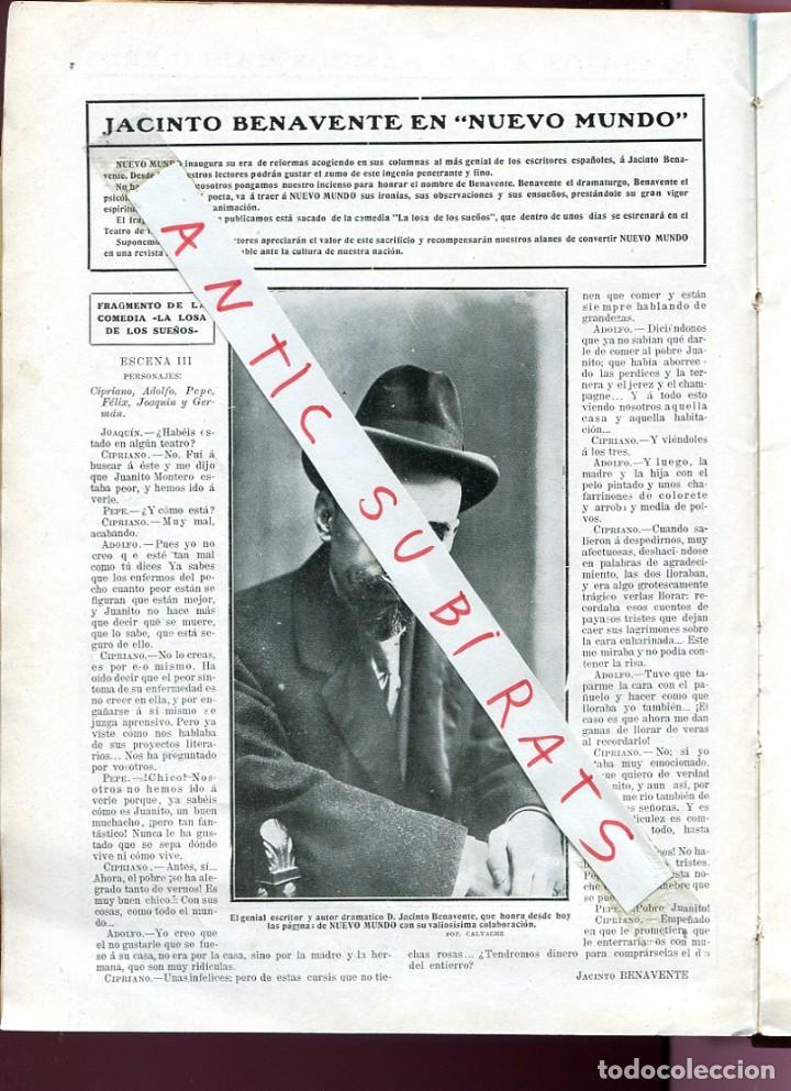 REVISTA AÑO 1911 JACINTO BENAVENTE BANDA MUNICIPAL DE MADRID AVIADOR DE MADRID JOSE GONZALEZ CAMO (Coleccionismo - Revistas y Periódicos Antiguos (hasta 1.939))