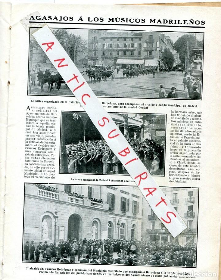 Coleccionismo de Revistas y Periódicos: REVISTA AÑO 1911 JACINTO BENAVENTE BANDA MUNICIPAL DE MADRID AVIADOR DE MADRID JOSE GONZALEZ CAMO - Foto 2 - 246053955