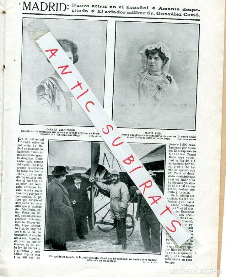 Coleccionismo de Revistas y Periódicos: REVISTA AÑO 1911 JACINTO BENAVENTE BANDA MUNICIPAL DE MADRID AVIADOR DE MADRID JOSE GONZALEZ CAMO - Foto 3 - 246053955