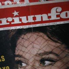 Coleccionismo de Revistas y Periódicos: REVISTA TRIUNFO AUDREY HEPBURN 1963. Lote 246097800