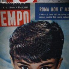 Coleccionismo de Revistas y Periódicos: REVISTA ITALIANA TEMPO AUDREY HEPBURN 1954. Lote 246098095