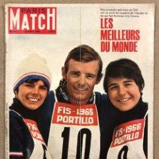 Coleccionismo de Revistas y Periódicos: PARIS MATCH N° 906 (1966). LES MILLORS DU MONDE,.... Lote 246135280