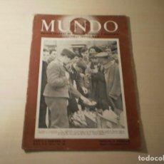 Coleccionismo de Revistas y Periódicos: REVISTA MUNDO Nº 41 ( 16 FEBRERO 1941). Lote 246136435