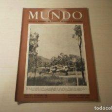 Coleccionismo de Revistas y Periódicos: REVISTA MUNDO Nº 186 ( 28 NOVIEMBRE 1943). Lote 246137170