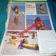 Coleccionismo de Revistas y Periódicos: RECORTE : ISABEL PANTOJA, EN LA PLAYA. SEMANA, AGTO 1980(#). Lote 246137395