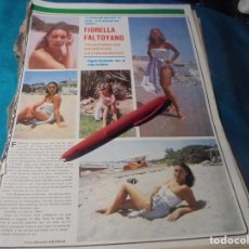 Coleccionismo de Revistas y Periódicos: RECORTE : FIORELLA FALTOYANO, VACACIONES. SEMANA, AGTO 1980(#). Lote 246137505
