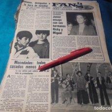 Coleccionismo de Revistas y Periódicos: RECORTE : MOCEDADES. JUNIOR. EL GRUPO BOTONES. SEMANA, AGTO 1980(#). Lote 246137820