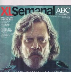 Coleccionismo de Revistas y Periódicos: ABC REVISTA XL SEMANAL PORTADA LUKE SKYWALKER STAR WARS EL ULTIMO JEDI. Lote 115015263