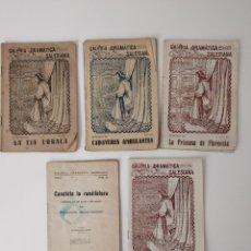 Coleccionismo de Revistas y Periódicos: LOTE 5 LIBRITOS GALERÍA DRAMÁTICA SALESIANA NÚMEROS: 7, 12, 29, 37 Y 54. TIA URRACA.... Lote 246340575
