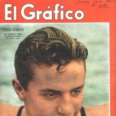 Coleccionismo de Revistas y Periódicos: 1941 EL GRAFICO # 1124 NEWMAYER DOBLE JUNIN HENRY FARMAN BANFIELD VS SUD AMERICA DE MONTEVIDEO. Lote 246350850