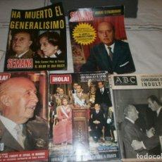 Coleccionismo de Revistas y Periódicos: REVISTA SEMANA Y HOLA FRANCO HA MUERTO, HA MUERTO EL GENERALIMO, NÚMERO EXTRAORDINARIO, ABC 1976. Lote 246353265