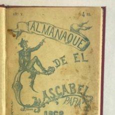 Coleccionismo de Revistas y Periódicos: ALMANAQUE DE EL CASCABEL PARA 1868.. Lote 123138999