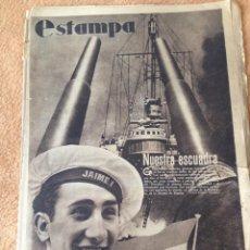 Collectionnisme de Revues et Journaux: REVISTA GRÁFICA ESTAMPA, 1 ABRIL 1937, Nº 481. Lote 246857975
