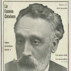 Coleccionismo de Revistas y Periódicos: LA ESCENA CATALANA NÚMERO EXTRAORDINARI DEDICAT A IGNASI IGLÉSIES. Lote 247171625