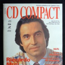 Coleccionismo de Revistas y Periódicos: REVISTA CD COMPACT. Nº 54. 1993. RICARDO MUTI, SIMON ESTES, SVIATOSLAV RICHTER. Lote 247516460