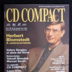 Coleccionismo de Revistas y Periódicos: REVISTA CD COMPACT. Nº 69. 1994. HERBERT BLOMSTEDT, VALERY GERGIEV, YEHUDI MENUHIN, MANUEL SARDÀ. Lote 247518070