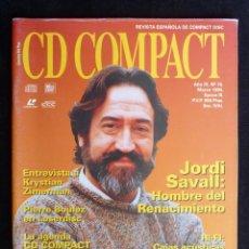 Coleccionismo de Revistas y Periódicos: REVISTA CD COMPACT. Nº 75. 1995. JORDI SAVALL, KRYSTIAN ZIMERMAN, PIERRE BOULEZ. Lote 247518775