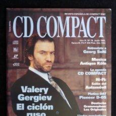 Coleccionismo de Revistas y Periódicos: REVISTA CD COMPACT. Nº 78. 1995. VALERY GERGIEV, GEORG SOLTI, MUSICA ANTIQUA KÖLN. Lote 247519075