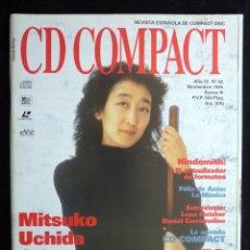 Coleccionismo de Revistas y Periódicos: REVISTA CD COMPACT. Nº 82. 1995. MITSUKO UCHIDA, HINDEMITH, FÉLIX DE AZÚA, LEON FREISHER, FERRAMOLIN. Lote 247519610