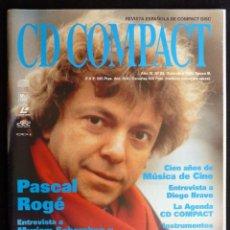 Coleccionismo de Revistas y Periódicos: REVISTA CD COMPACT. Nº 83. 1995. PASCAL ROGÉ, MYRIAM SCHERCHEN, ELISABETH FURTWÄNGLER, EDUARD TOLDRÀ. Lote 247519755