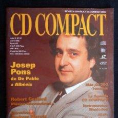 Coleccionismo de Revistas y Periódicos: REVISTA CD COMPACT. Nº 87. 1996. JOSEP PONS, ROBERT GERHARD, ANDREW PARROT, CARLOS CÉSTER. Lote 247520565