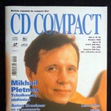 Coleccionismo de Revistas y Periódicos: REVISTA CD COMPACT. Nº 92. 1996. MIKHAIL PLETNEV, ANTON BRUCKNER, GIL SHARAM, ROBERTA KERN. Lote 247521540