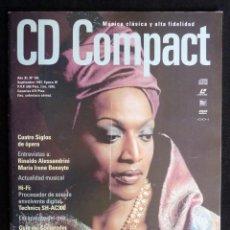 Coleccionismo de Revistas y Periódicos: REVISTA CD COMPACT. Nº 102. 1997. JESSYE NORMAN, RINALDO ALESSANDRINI, MARÍA IRENE BENEYTO. Lote 247522135
