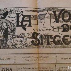 Coleccionismo de Revistas y Periódicos: LA VOZ DE SITGES, AÑO IV, Nº 196 (1897). ARTÍCULO DE SANTIAGO RUSIÑOL. Lote 247799185
