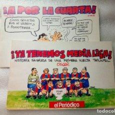 Coleccionismo de Revistas y Periódicos: 2 RECOPILATORIOS TIRAS HUMOR OSCAR (EL PERIÓDICO) - RESUMEN TEMPORADA BARÇA (1990 Y 1993). Lote 247961290