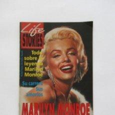 Coleccionismo de Revistas y Periódicos: MARILYN MONROE TODO SOBRE SU LEYENDA SU CARRERA SUS AMORIOS SU VIDA FASCINANTE LIFE STORIES. Lote 248274125
