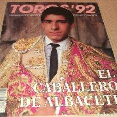 Collectionnisme de Revues et Journaux: REVISTA TOROS ' 92 - N ° 108 - JULIO 1990 - EL CABALLERO DE ALBACETE. Lote 248299055
